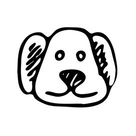 dog sketch icon