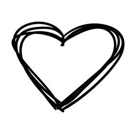 heart sketch icon